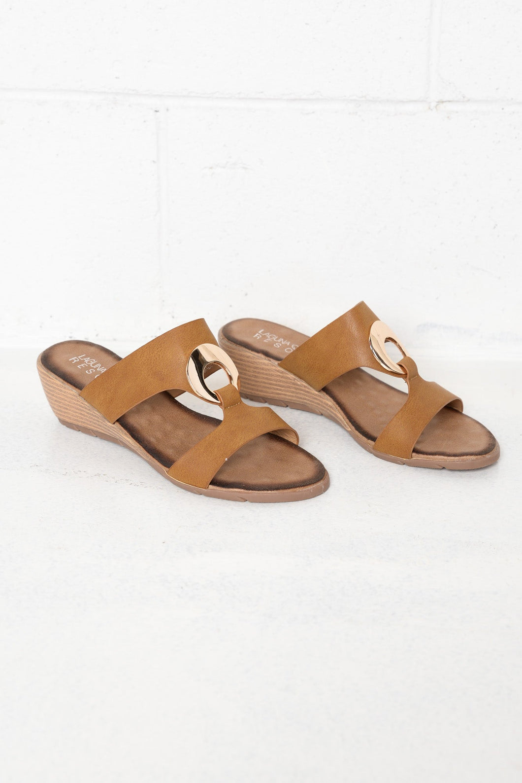 Nicole Tan Wedge Mule Sandal