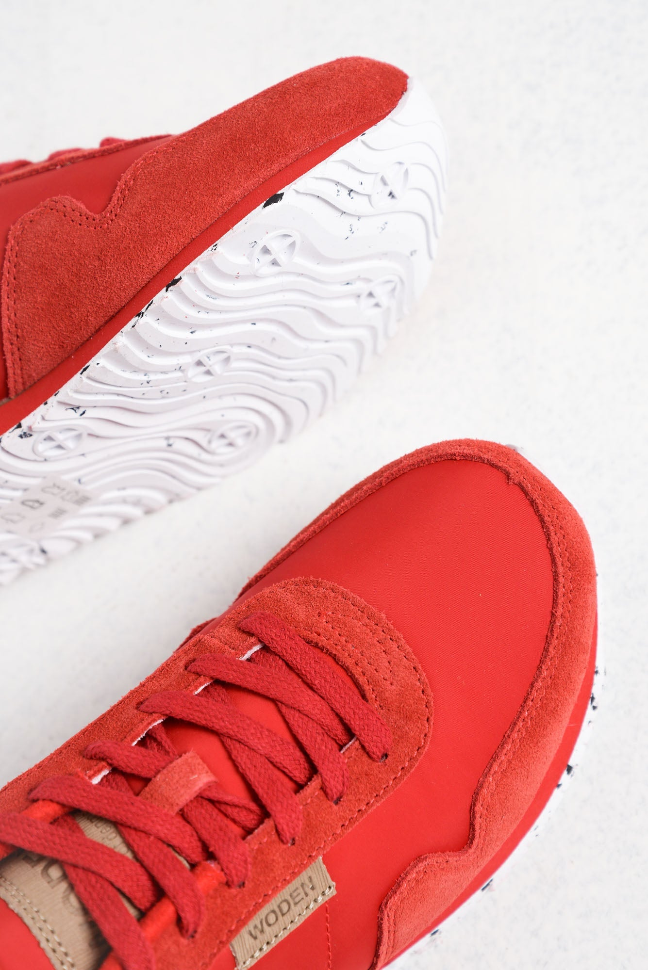 Nora Red and Silver Sneaker