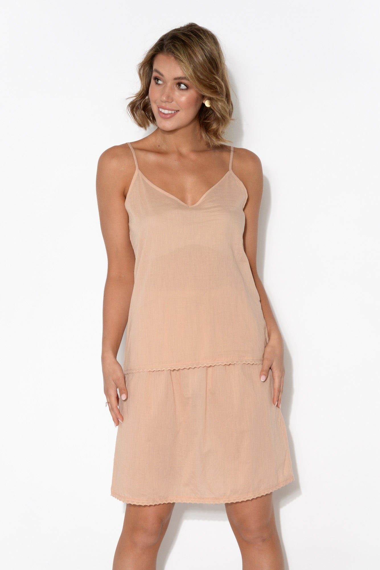 Nude Organic Cotton Reversible Cami
