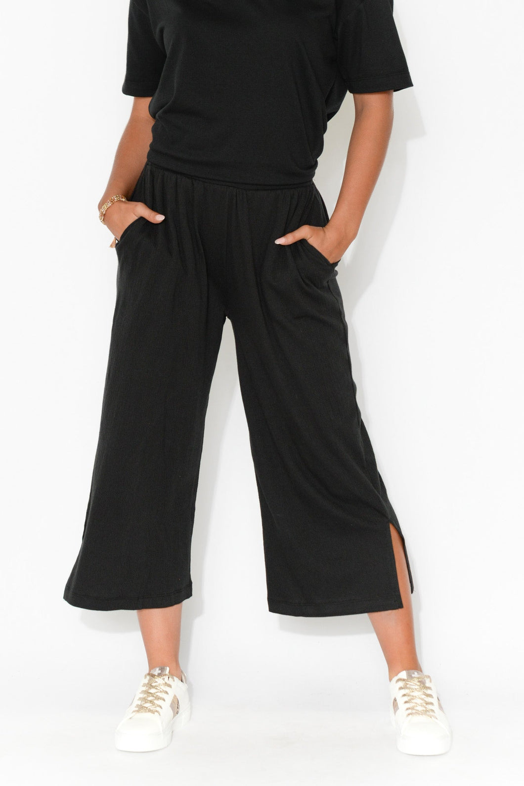 Palos Black Cropped Pant