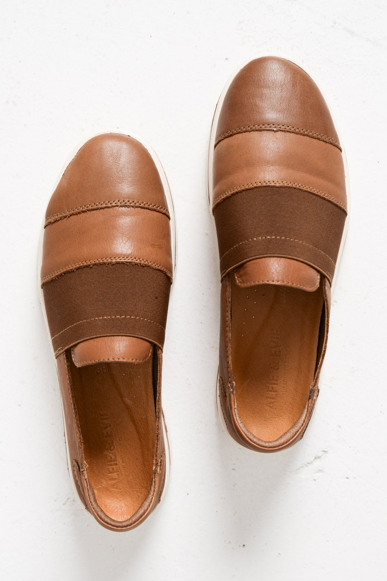 People Tan Leather Slip On