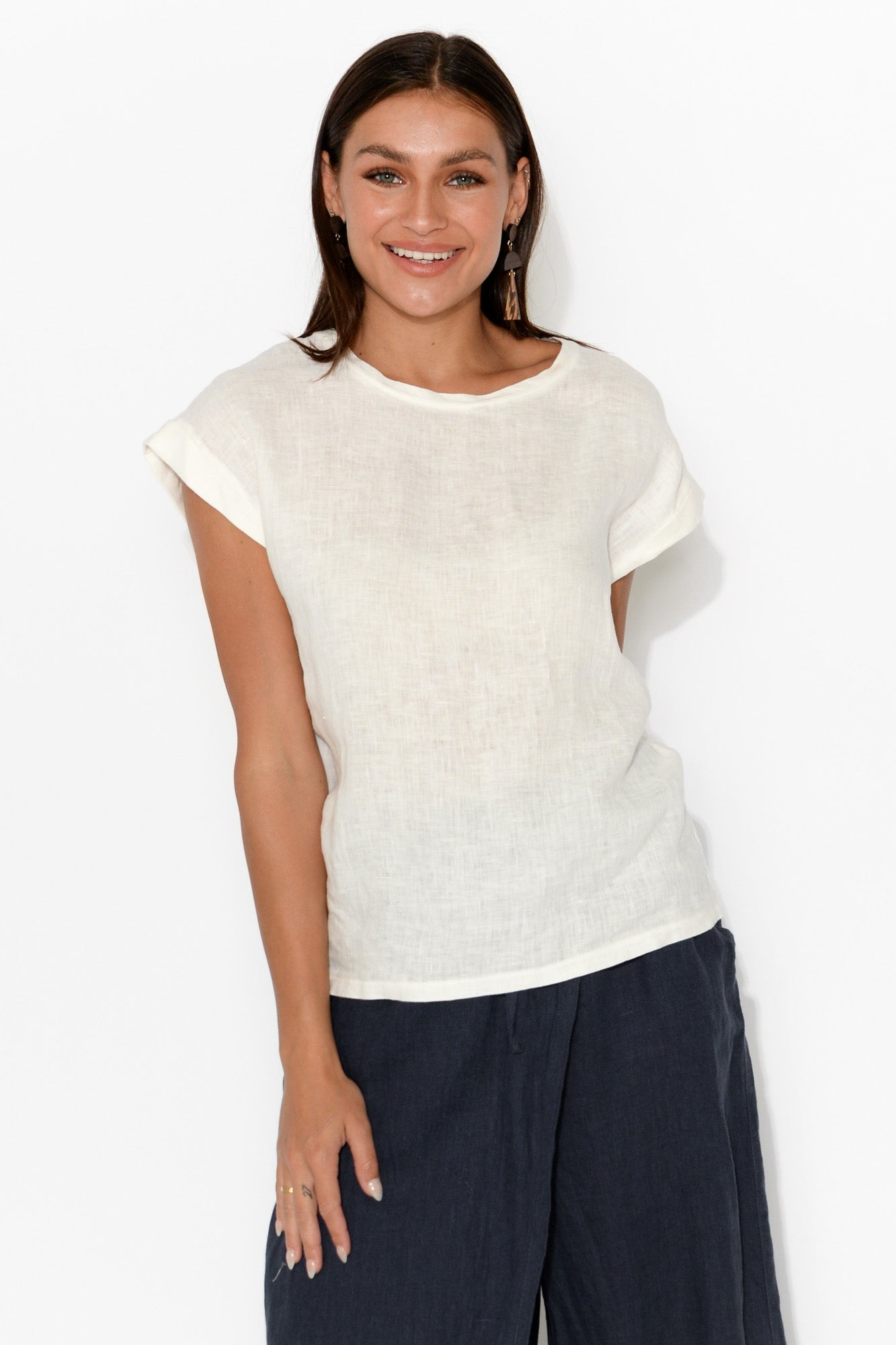 Percy White Short Sleeve Top