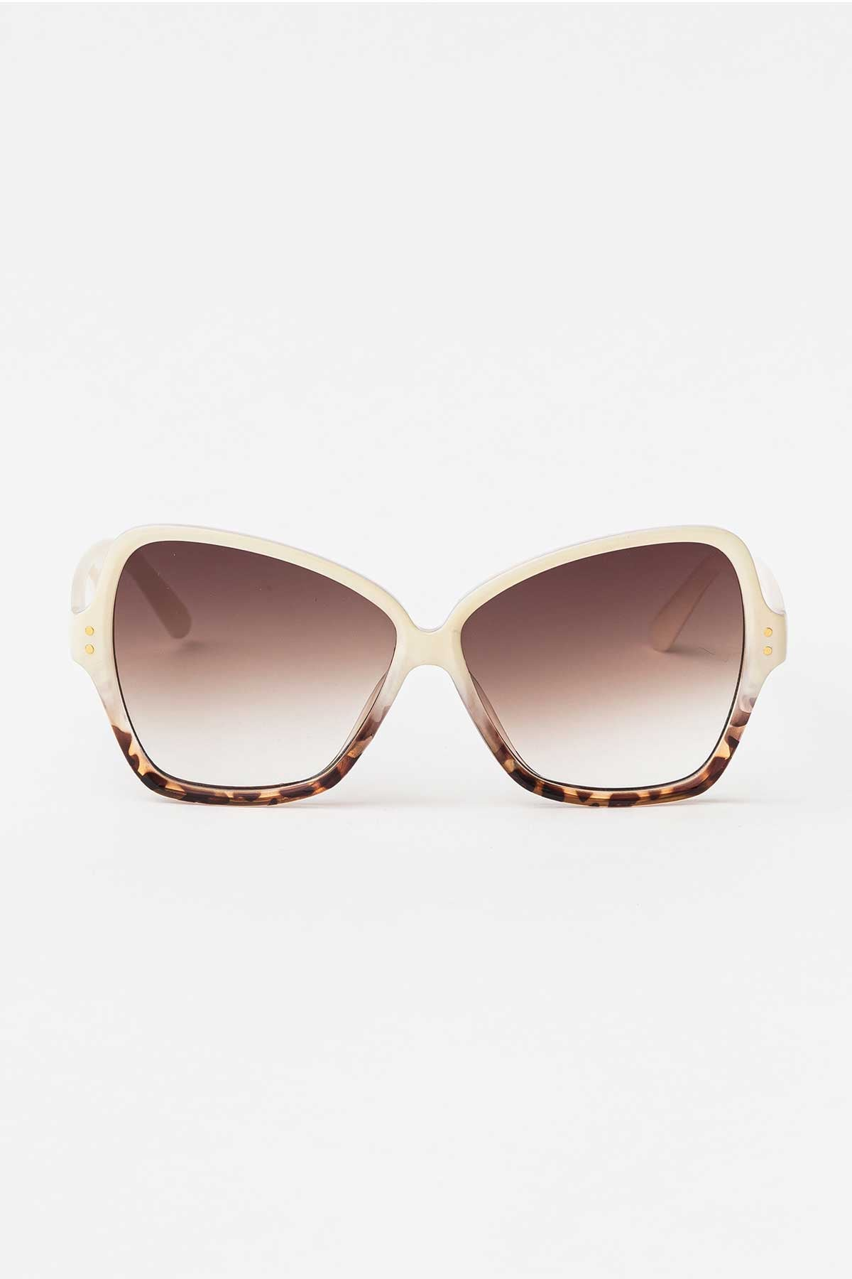 Piper Cream Leopard Sunglasses