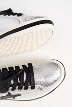 Pixie Star Silver Black Leather Sneaker