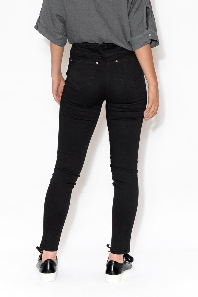 Reed Black Stretch Cotton Pant