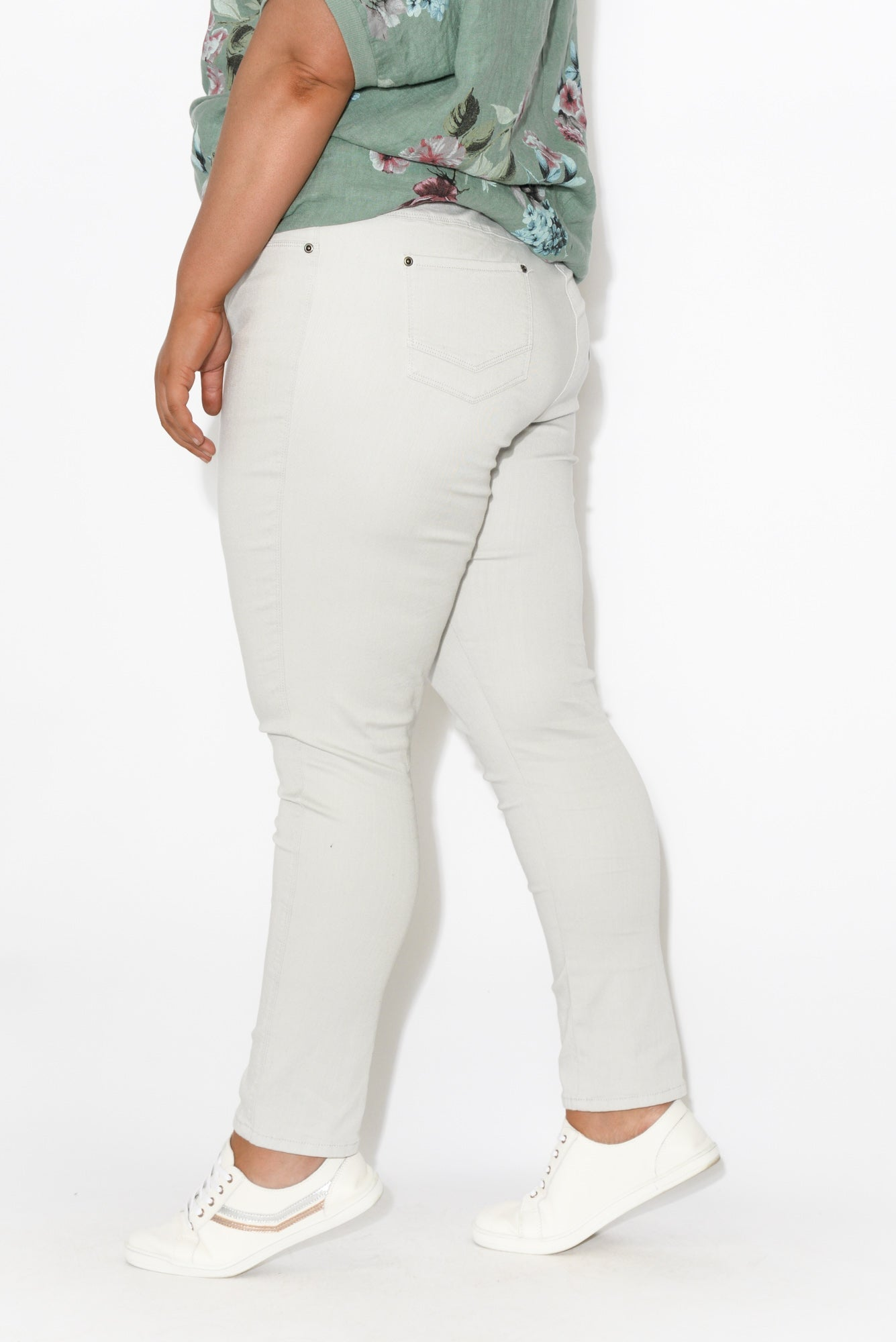 Reed Grey Stretch Cotton Pant