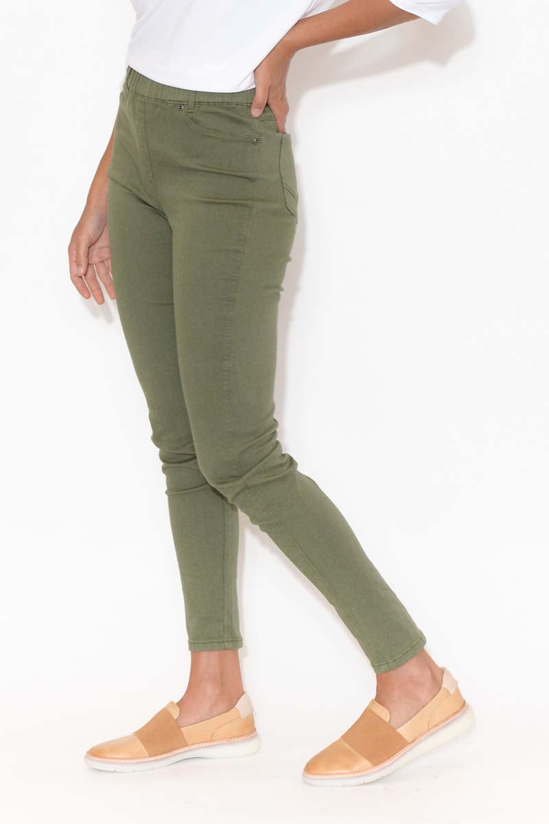 Reed Khaki Stretch Cotton Pant
