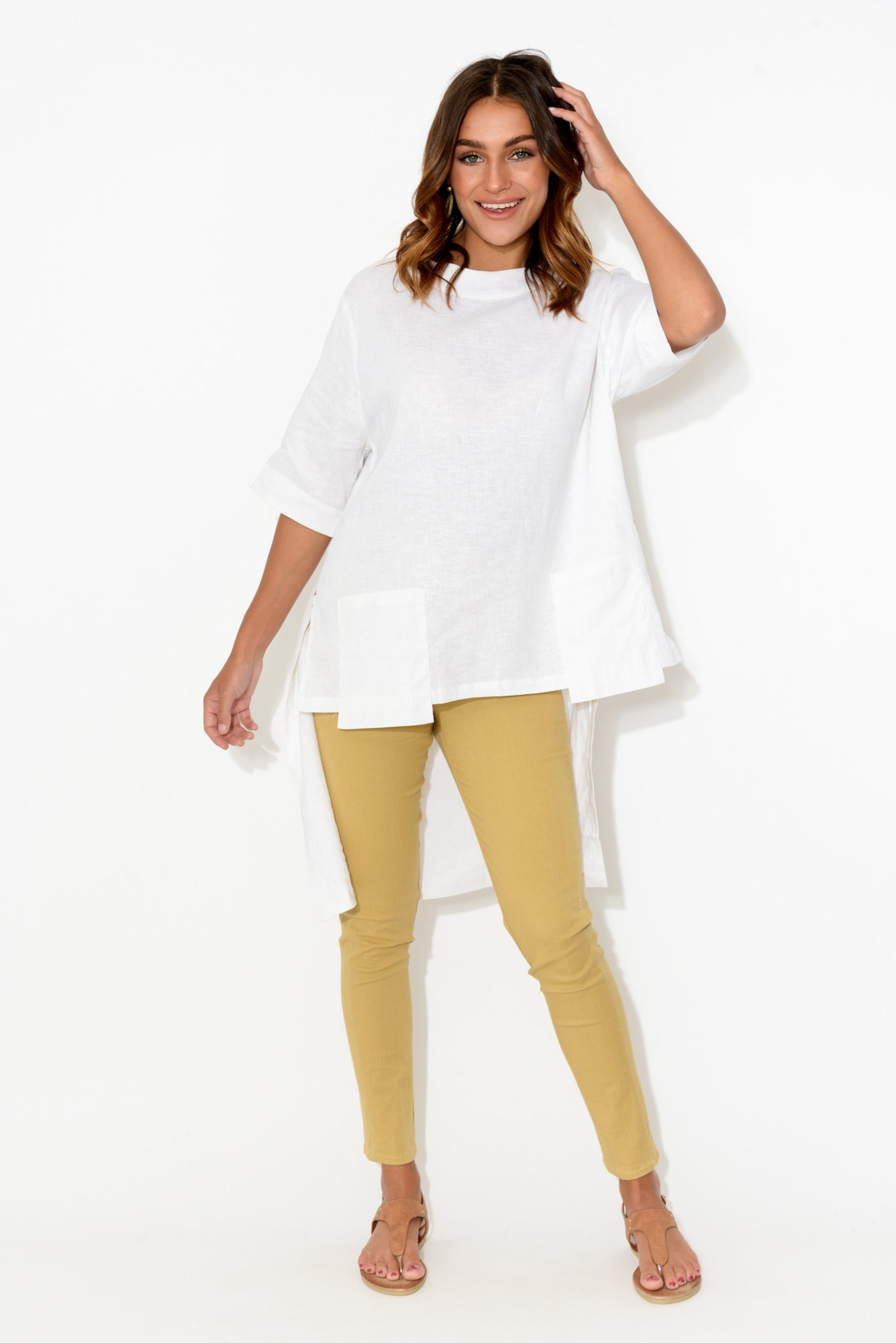 Reed Mustard Stretch Cotton Pant