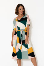 Rosie Kaleidoscope Bamboo Tie Dress