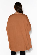 Rust Oversized Cotton Hi Lo Top