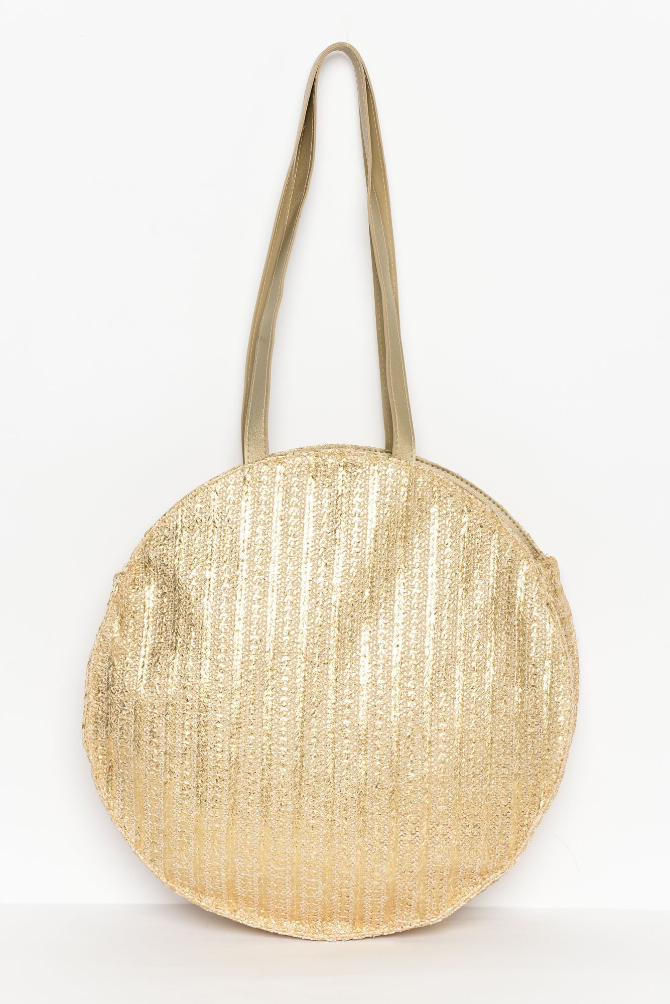 Sara Gold Metallic Large Tote Bag