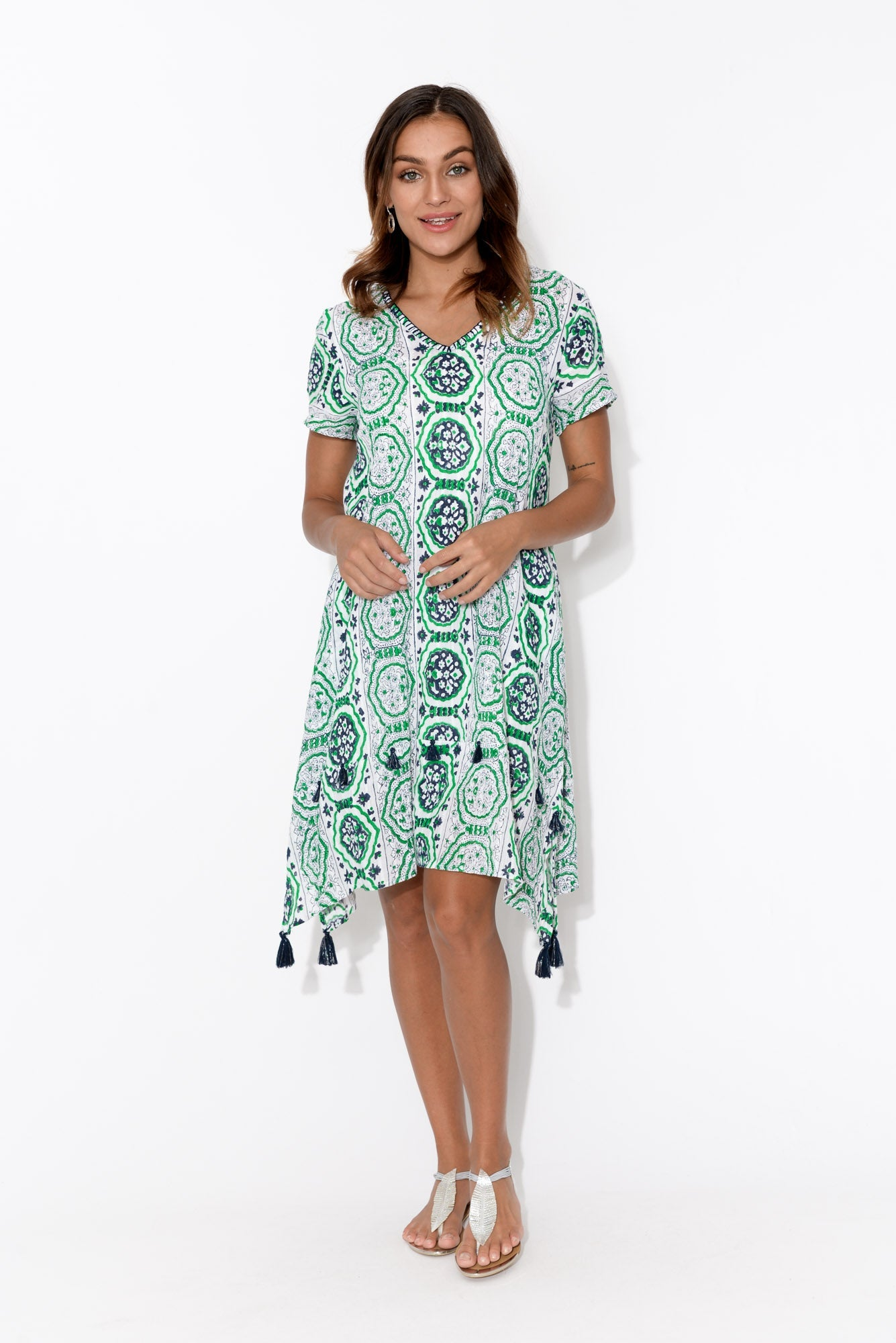 Sarafina Green Cotton Dress