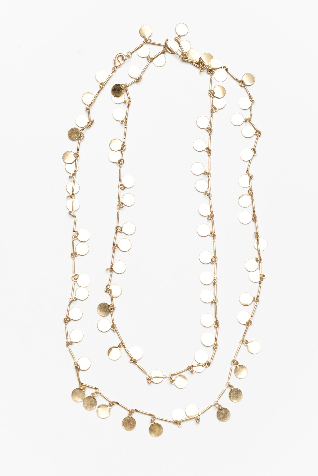 Sedro Gold Long Charm Necklace