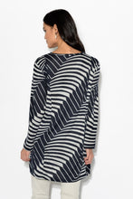Shiloh Abstract Grey Stripe Top