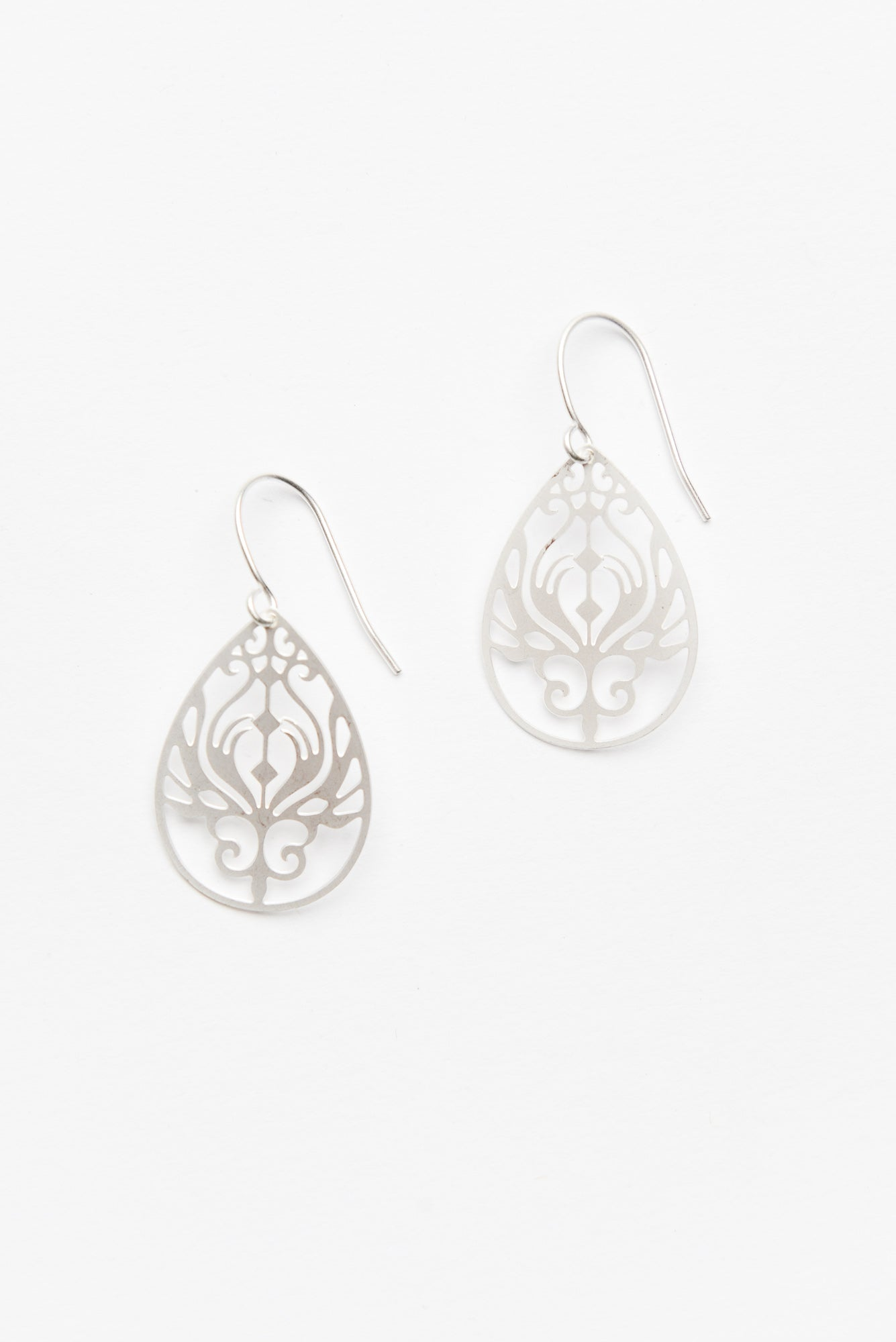 Silver Mini Baroque Filigree Earrings - Blue Bungalow ?id=8915154042937