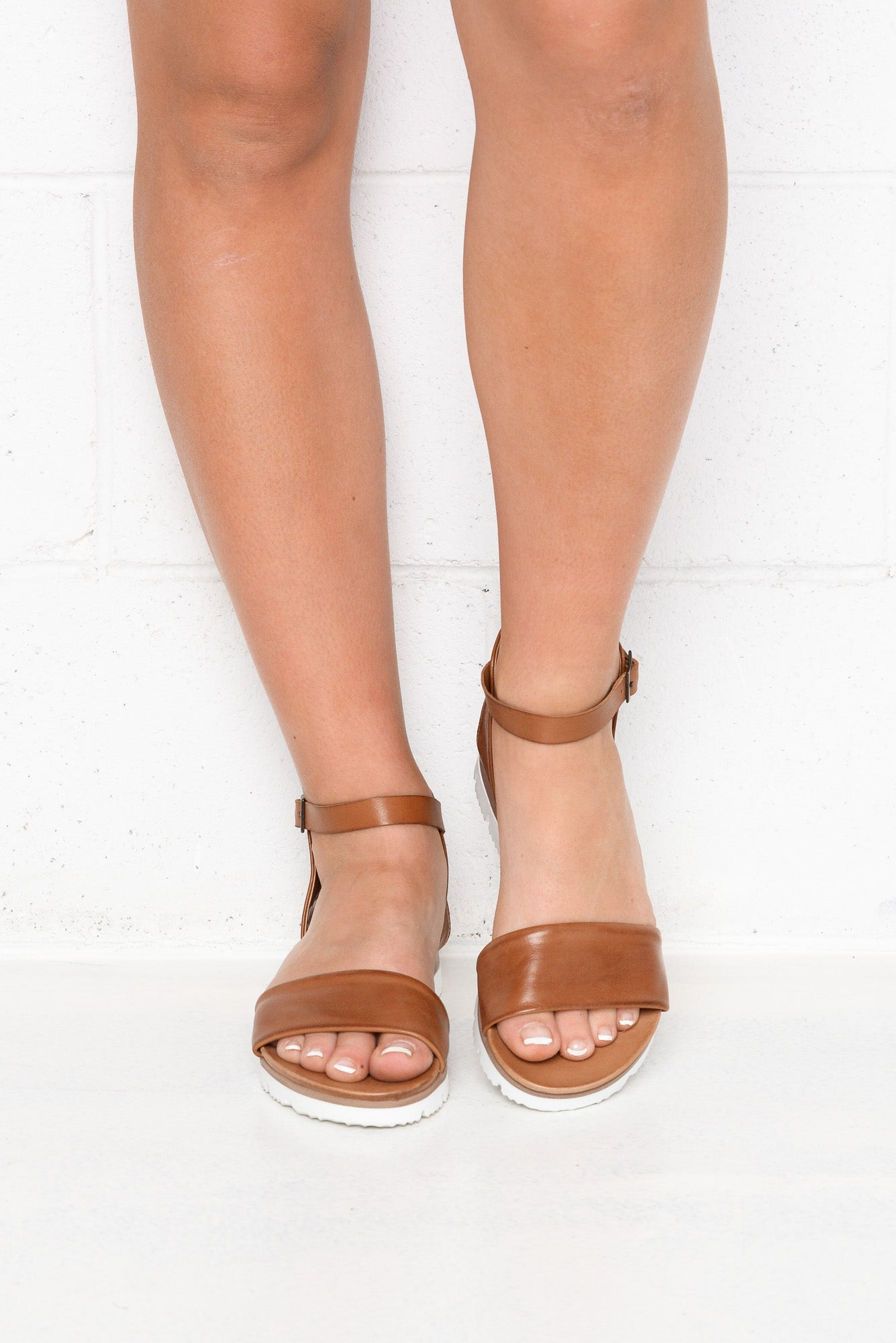 Soda Brandy Leather Sandal