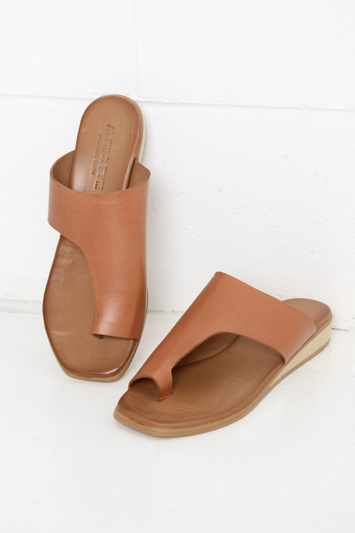 Sole Tan Leather Slide