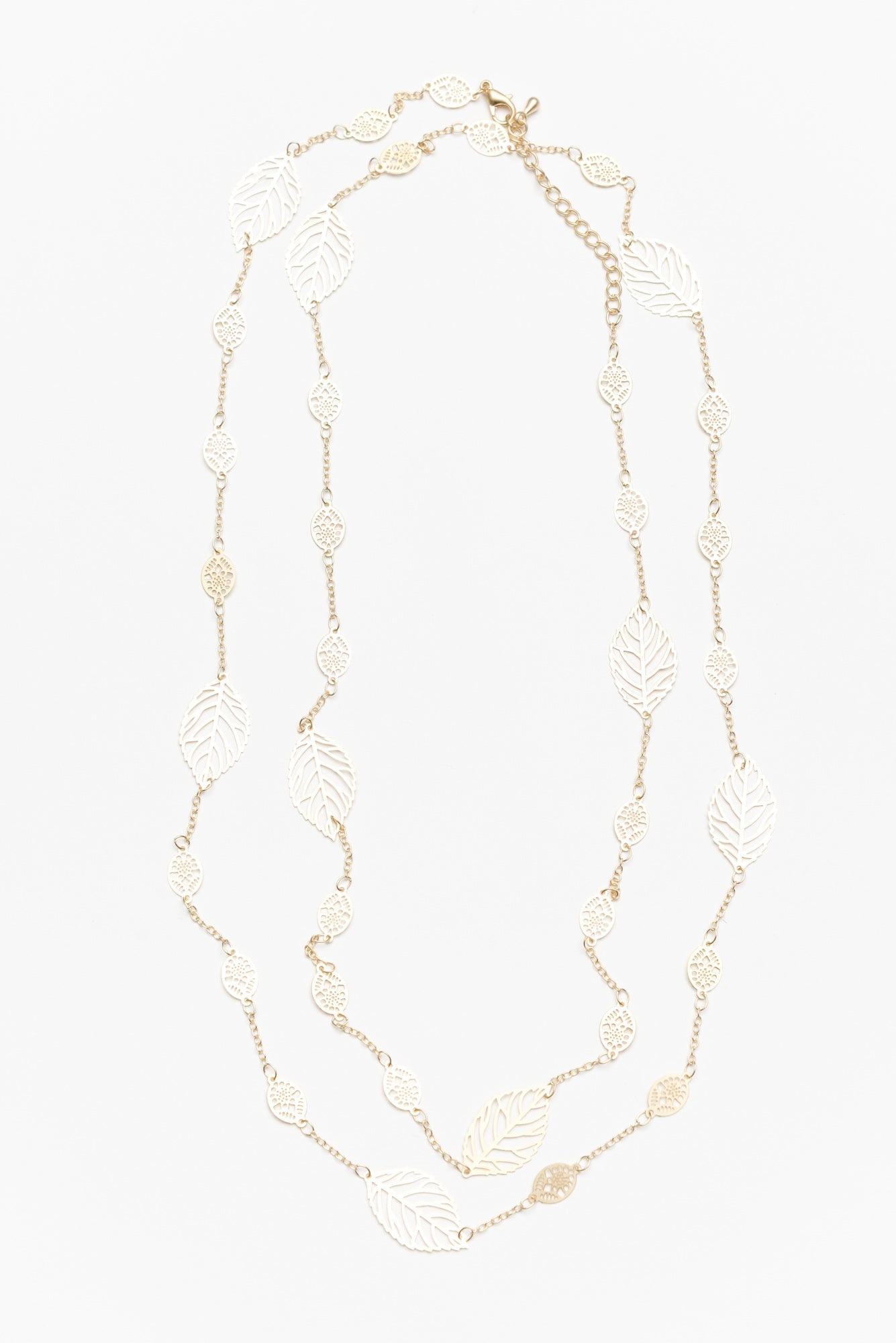 Sula Gold Fine Leaf Chain Necklace