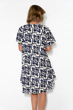 Sylvia Navy Batik Cotton Dress