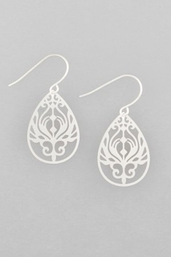 Silver Mini Baroque Filigree Earrings - Blue Bungalow ?id=6799777398841