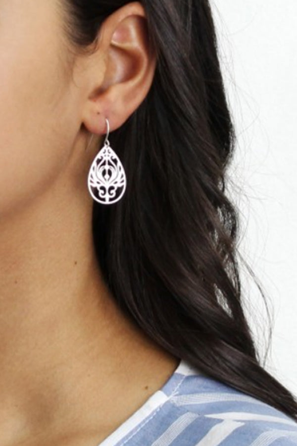 Silver Mini Baroque Filigree Earrings - Blue Bungalow ?id=6799777693753