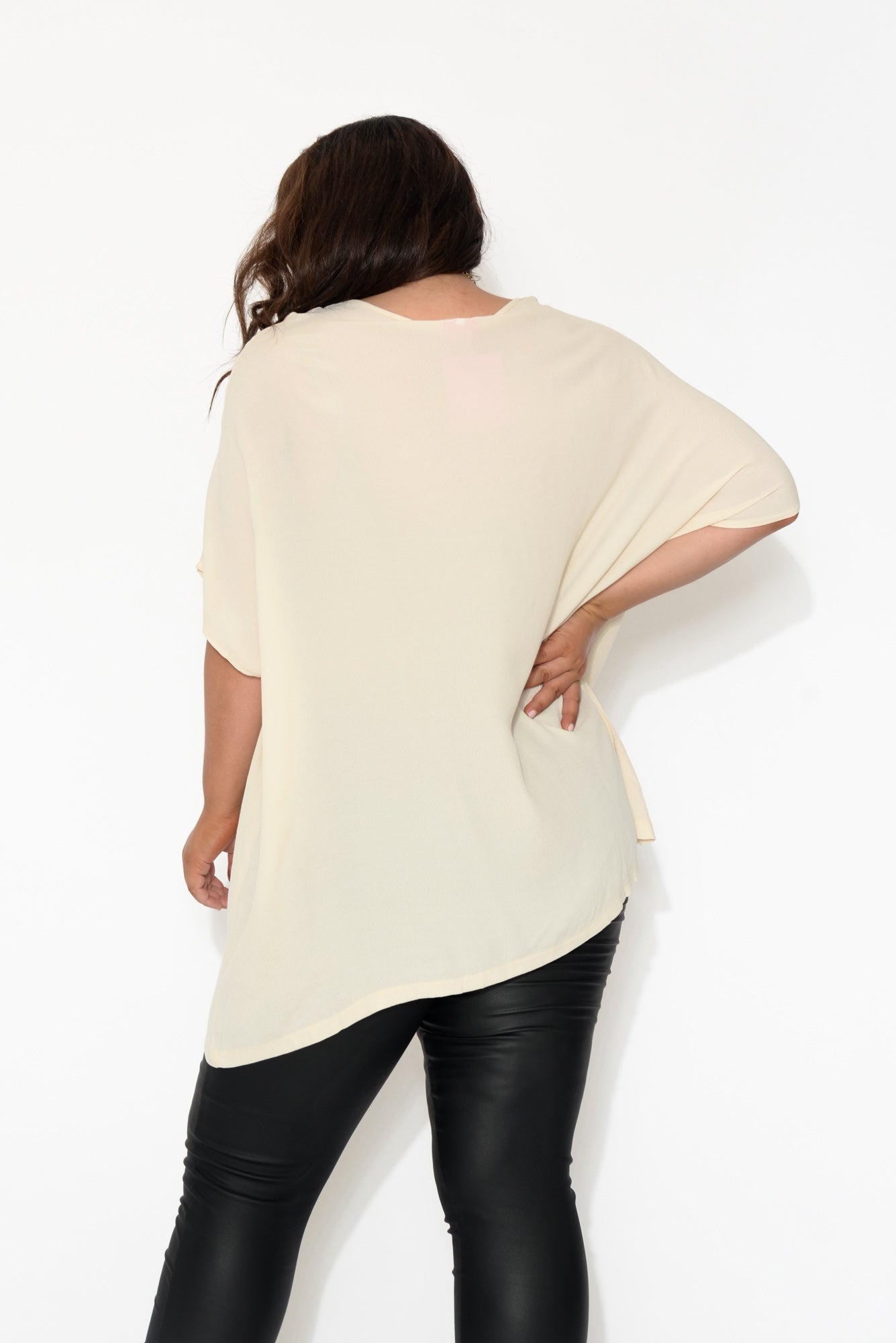 Tess Cream Drape Top