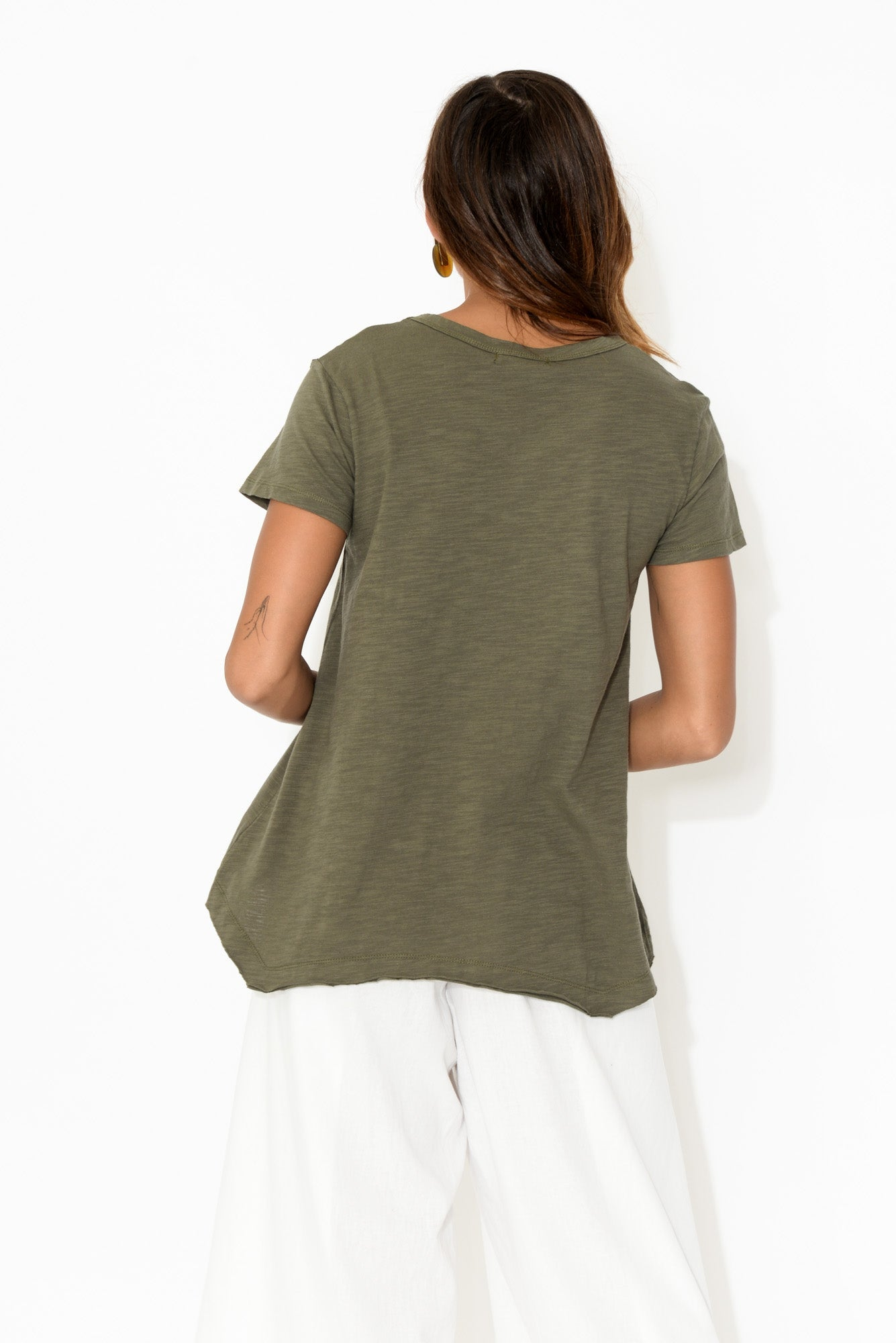 Thornton Khaki Cotton Tee