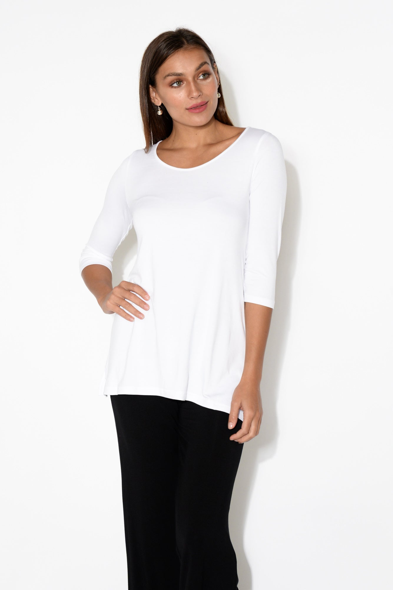 Tropez White Bamboo Top