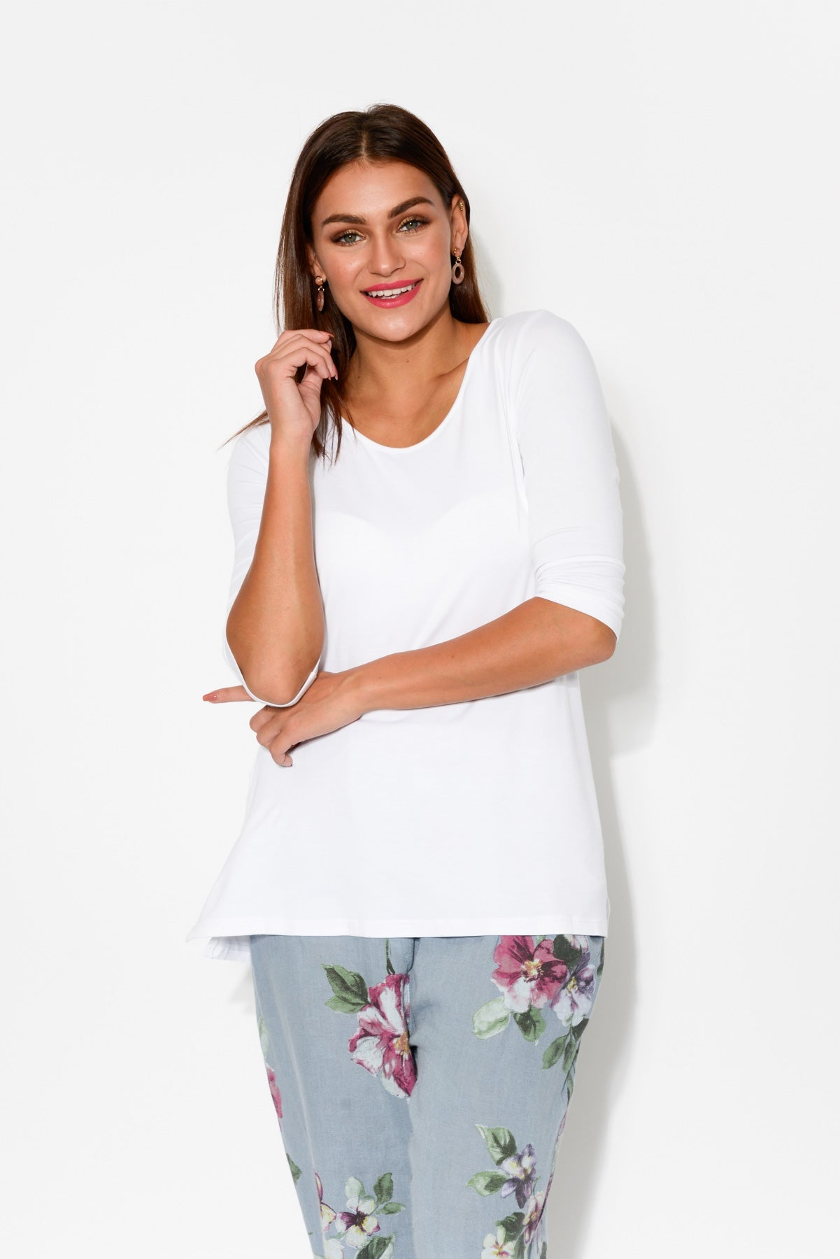 Tropez White Bamboo Top - Blue Bungalow