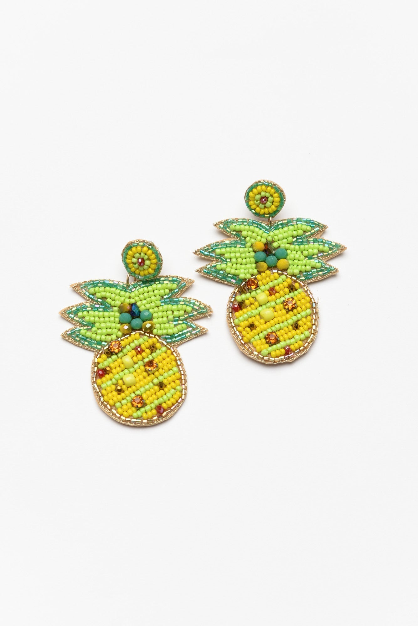 Tropical Pineapple Beaded Earring