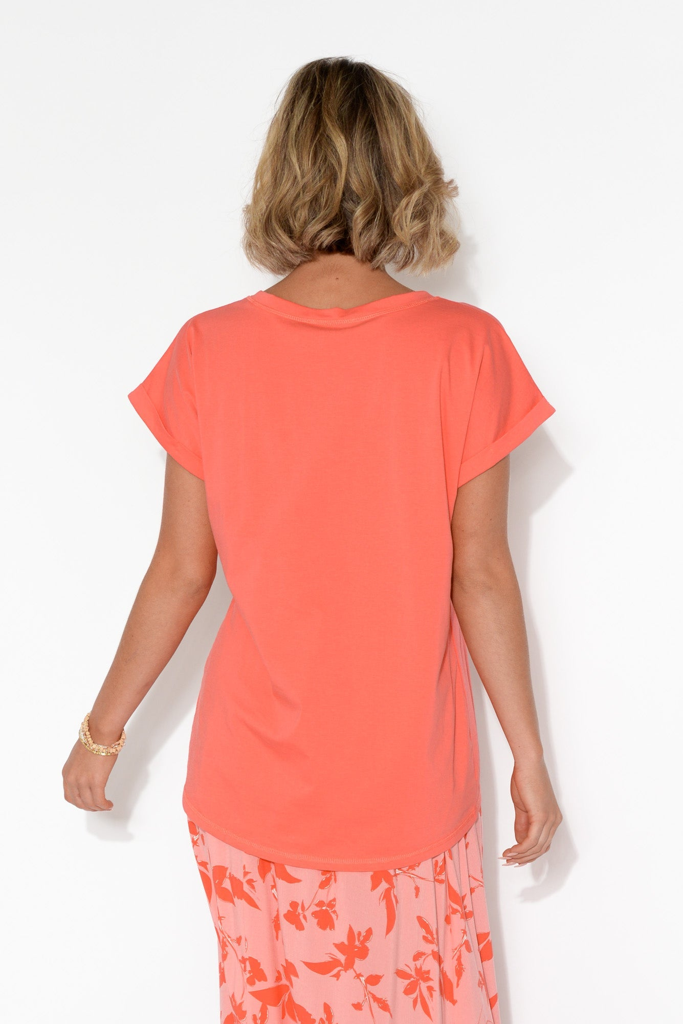 Tyler Coral Cotton Tee