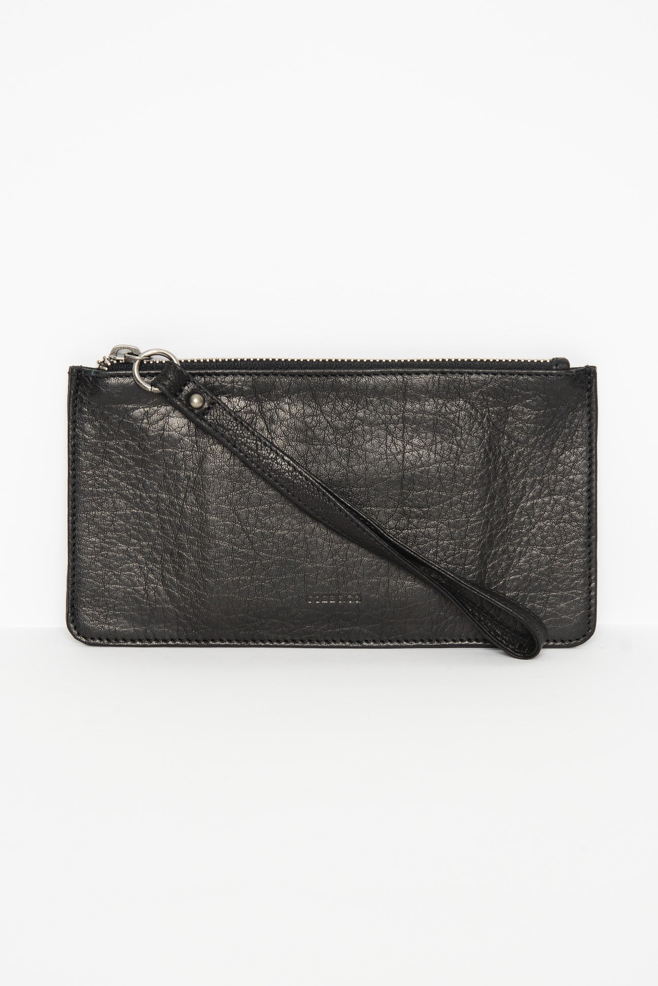 Vaucluse Black Leather Medium Pouch