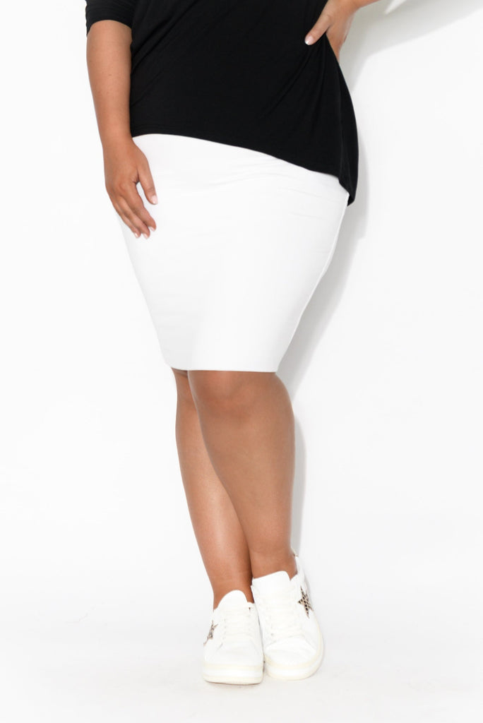 White Bamboo Double Layer Skirt