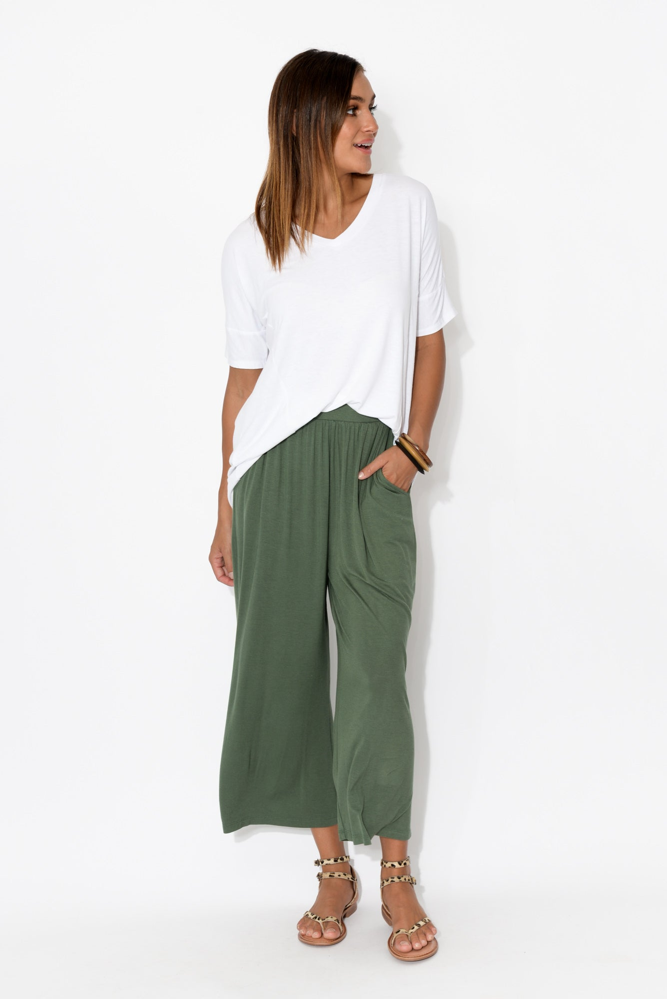 Dublin Olive Cropped Pant