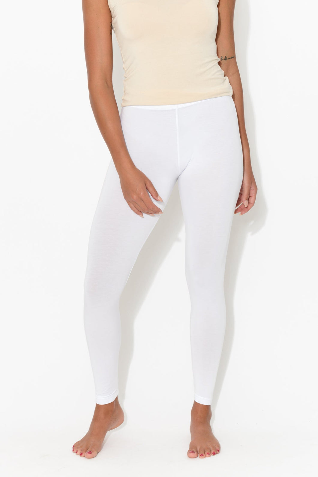 White Modal 7/8 Legging