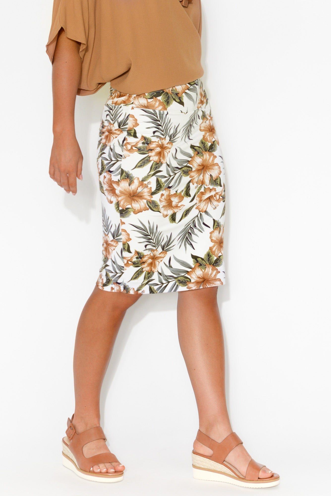 Whitney Tropical Bamboo Tube Skirt
