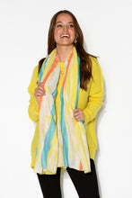 Yellow Painted Stripe Print Scarf - Blue Bungalow