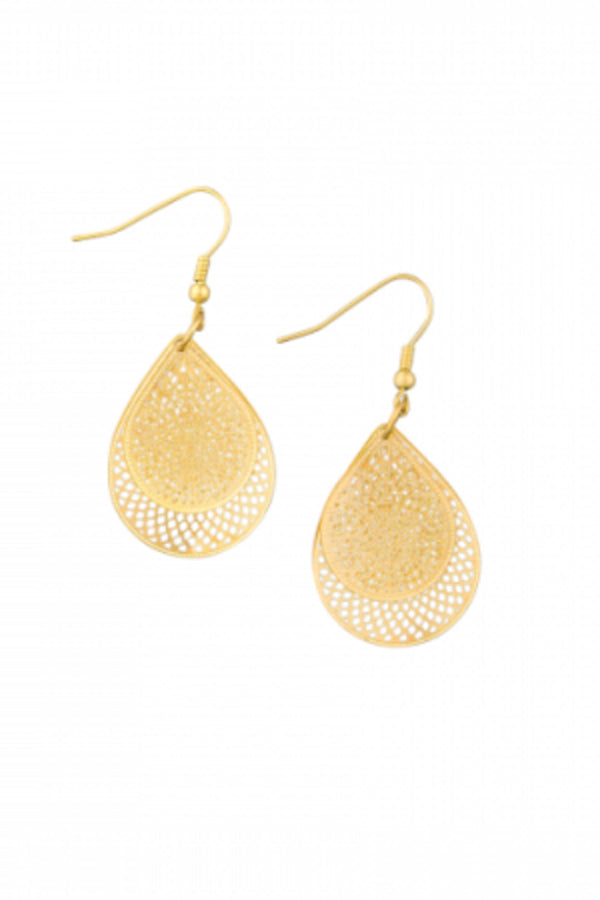 Gold Layered Filigree Earring - Blue Bungalow