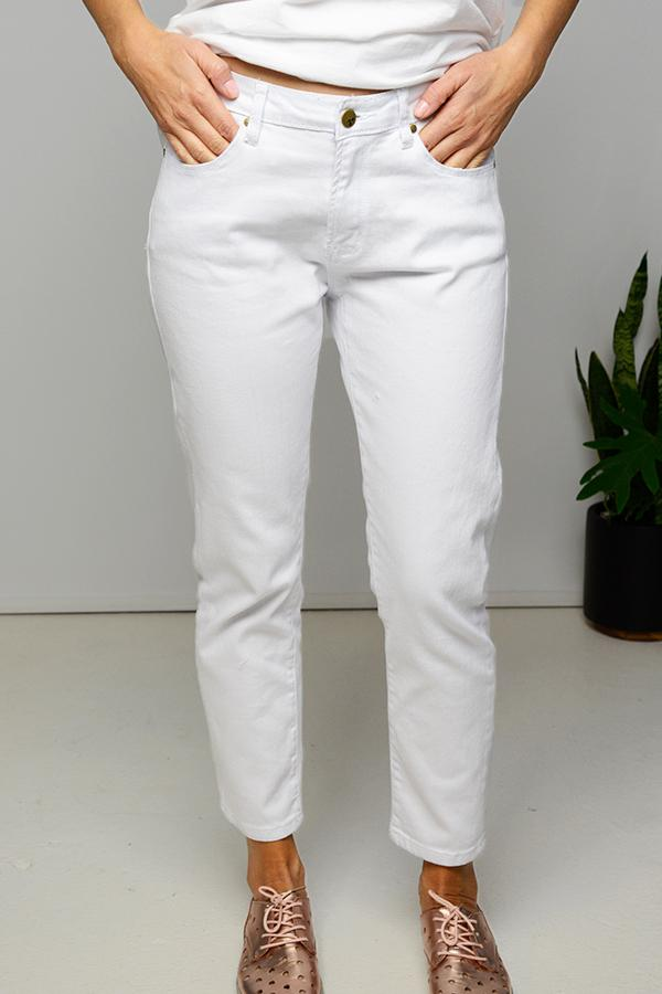 White Cropped Denim Jean - vendor-unknown - Blue Bungalow Online