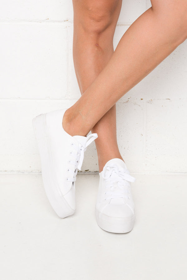 Aya White Canvas Sneaker - Blue Bungalow ?id=6338914844729