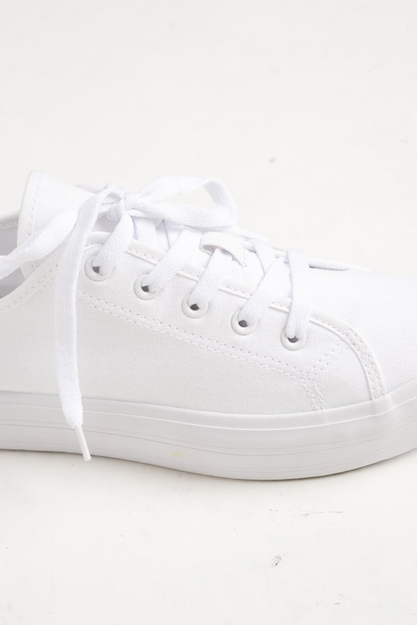 Aya White Canvas Sneaker - Blue Bungalow ?id=6338914746425
