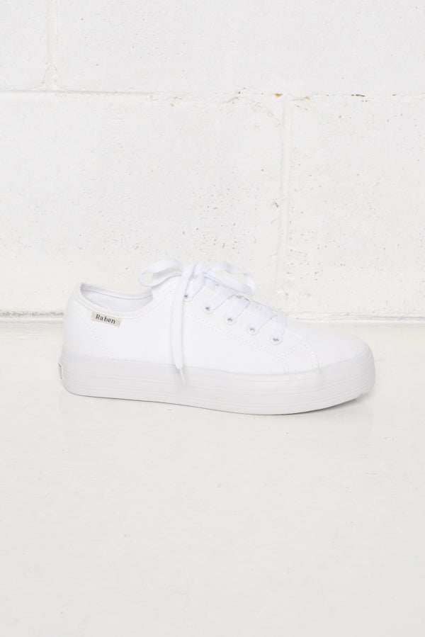 Aya White Canvas Sneaker - Blue Bungalow ?id=6338914648121
