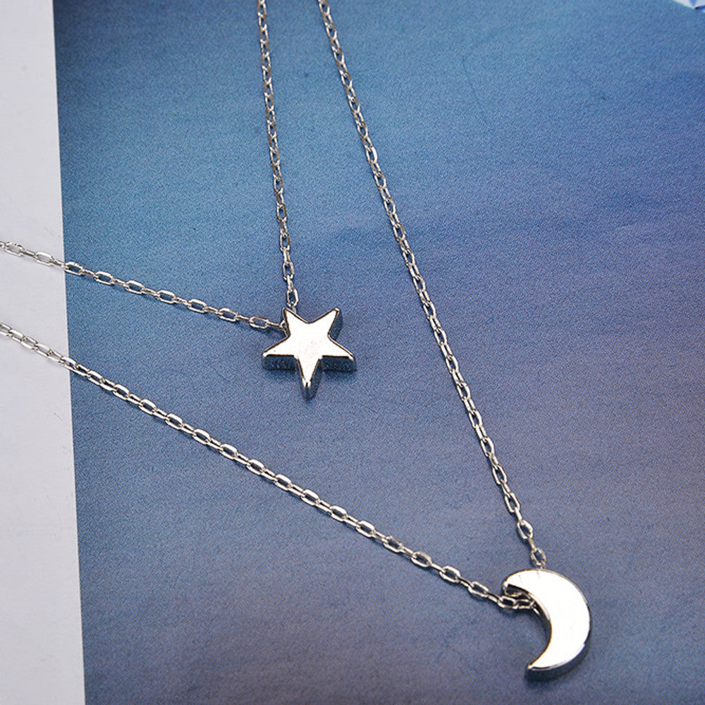 8cc992ebeacce Layered Moon and Stars Luna Girl Necklace