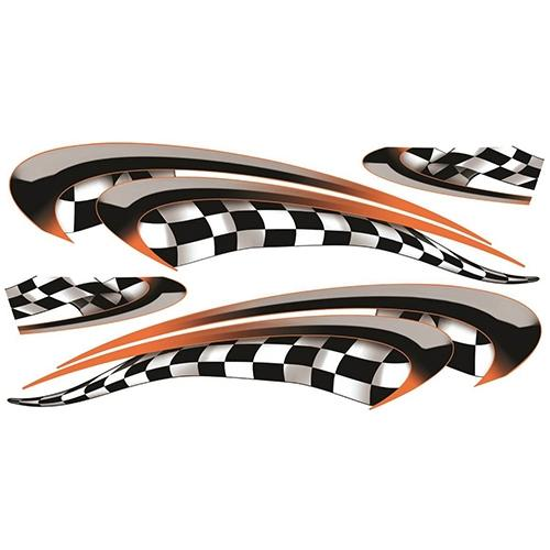 Madjax Club Car Precedent Orange Race Custom Body Graphic Set