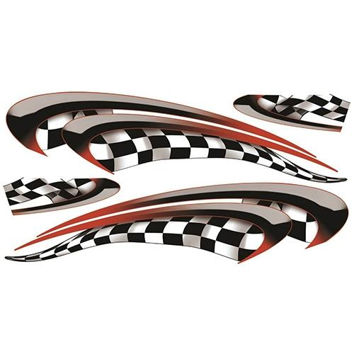 Madjax Club Car Precedent Red Race Custom Body Graphic Set