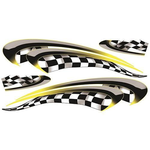 Madjax Club Car Precedent Yellow Race Custom Body Graphic Set