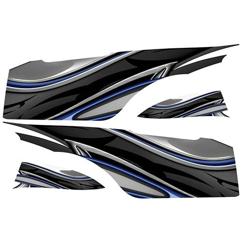 Madjax Club Car Precedent Blue Carbon Custom Body Graphic Set