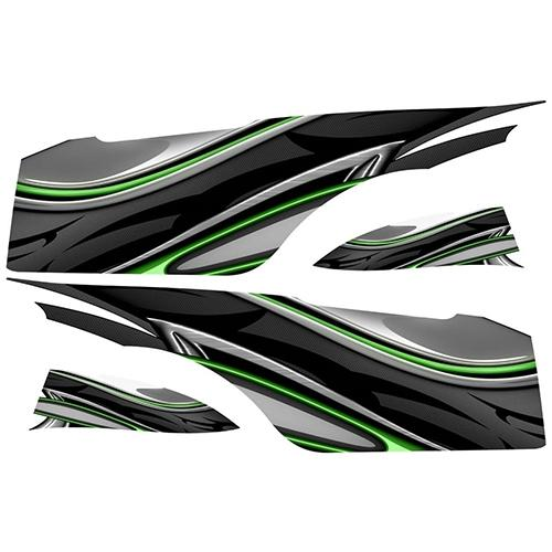 Madjax Club Car Precedent Green Carbon Custom Body Graphic Set