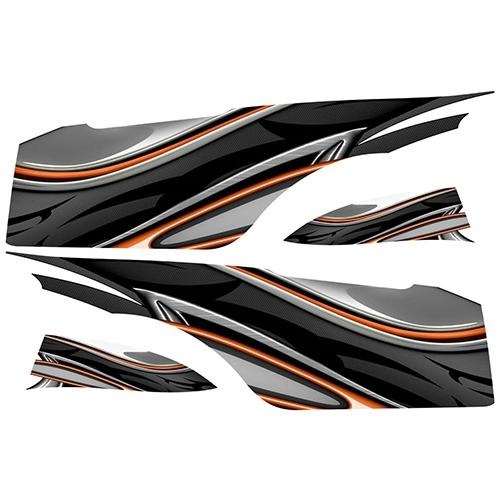 Madjax Club Car Precedent Orange Carbon Custom Body Graphic Set