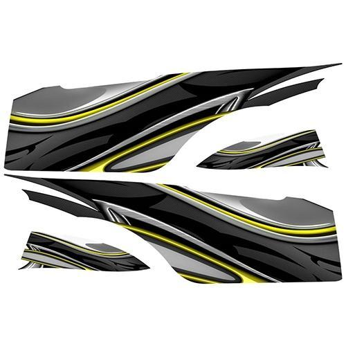 Madjax Club Car Precedent Yellow Carbon Custom Body Graphic Set